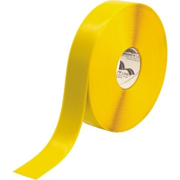 """Mighty Line™ Deluxe Safety Tape, 60 Mil PVC, 2"""" x 100', Yellow"""