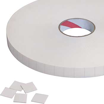 "Tape Logic® Removable Double Sided Foam Squares, 1/16"", 3/4 x 3/4"", White, 864/RL, 1 RL/CS"
