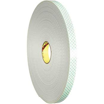 """3M™ 4008 Double Sided Foam Tape, 3/4"""" x 36 yds., 1/8"""", Natural, 1/CS"""