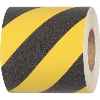 "Tape Logic® Heavy Duty Anti-Slip Treads, 6"" x 24"", Black/Yellow, 50 Strips/CS"