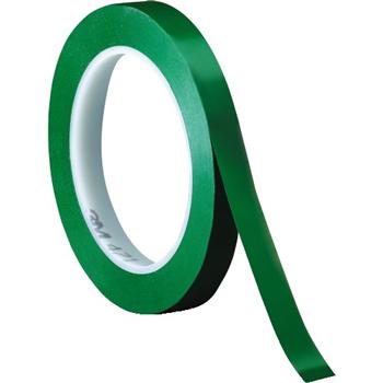 "3M™ 471 Vinyl Tape, 5.2 Mil, 1/4"" x 36 yds., Green, 3/CS"