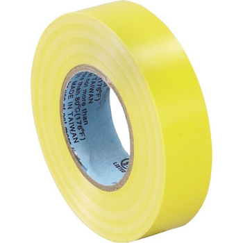 """Electrical Tape, 7.0 Mil, 3/4""""x 20 yds., Yellow, 10/CS"""
