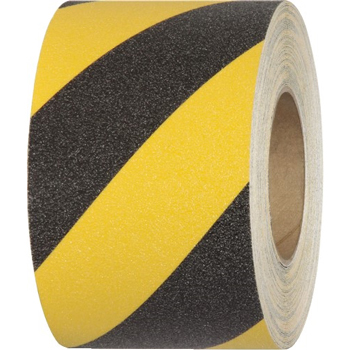"Tape Logic® Heavy-Duty Striped Anti-Slip Tape, 28 Mil, 3"" x 60', Black/Yellow, 1/CS"