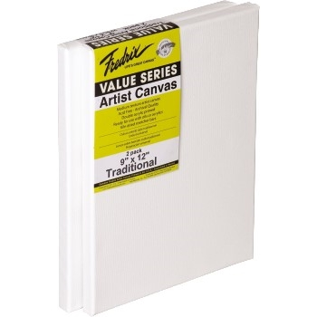 Fredrix® Value Stretched Canvas, 9 x 12, 2/PK