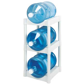 """Bottle Rack, White, 14 1/2""""w x 21 1/2""""d x 29""""h, 3 Tier Shelves/PK"""
