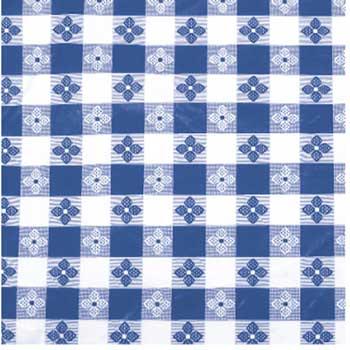 "Winco® Table Cloth, 52"" x 90"", Oblong,  Blue"