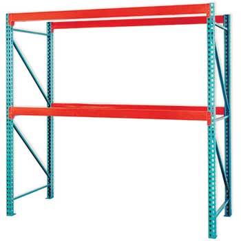"Pallet Rack Starter Kit, 120"" x 36"" x 120"", Includes 2 Upright Frames & 4 Beams"