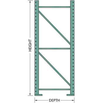 """Tri-Boro Frame, 36"""" D x 120"""" H, 3"""" x 1 5/8"""" Column"""