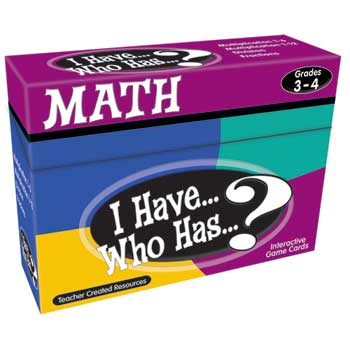 Teacher Created Resources I Have, Who Has Math Games, Grades 3 & 4