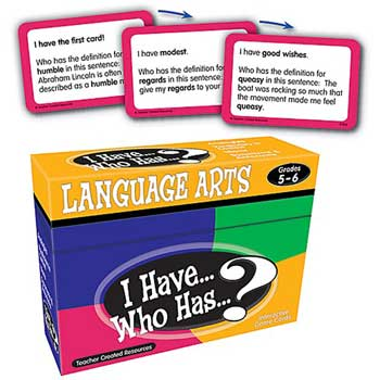 Teacher Created Resources I Have, Who Has Language Arts Game, Grades 5 & 6