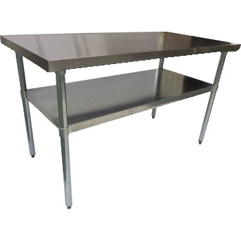 """Work Table with Galvanized Legs and Undershelf, Stainless Steel, 36"""""""" x 24"""""""""""