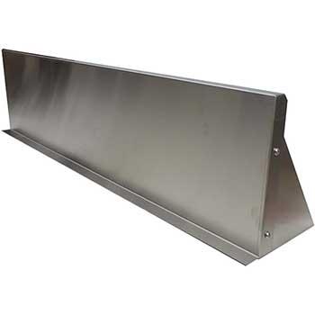"Wall Shelving, Stainless Steel, 12"" x 48"", 1.5"" Back Riser"