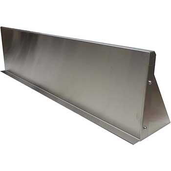 """NBR Wall Shelving, Stainless Steel, 12"""" x 72"""", 1.5"""" Back Riser"""