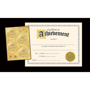 TREND® Embossed Sealed Certificates, Achievement