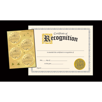 TREND® Embossed Sealed Certificates,  Recognition