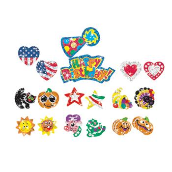 Sparkle Stickers® Holiday Celebration Variety Pack, 648/PK
