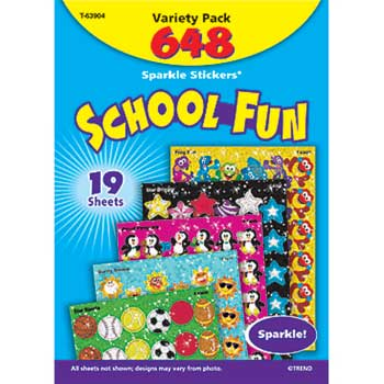 TREND® Sparkle STICKERS®, School, 648/PK