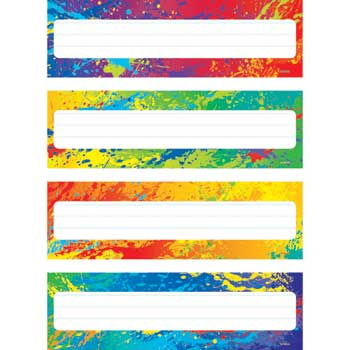 TREND® Desk Toppers Name Plates, Splashy Colors, 36/PK