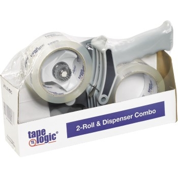 "2-Roll Dispenser Combo, 2.6 Mil, 2"" x 55 yds., Clear"