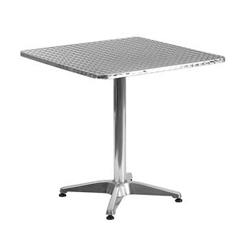 """Flash Furniture Square Indoor-Outdoor Table with Base, Aluminum, 27.5"""""""