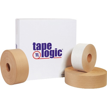 """#7500 Reinforced Water Activated Tape, 3"""" x 450', Kraft, 10/CS"""
