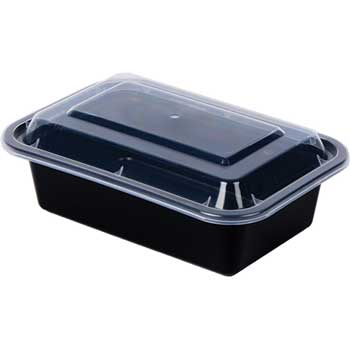 "Chef's Supply 24 oz. ReCTangular Food Container and Lid, 7"" x 5"" x 2"", 150/CT"