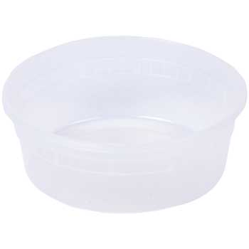 Deli Container, Round, 8 oz., Clear, 480/CT
