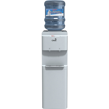 Adriatic Water Cooler, Hot/Cold, Top Loading, White, 37""