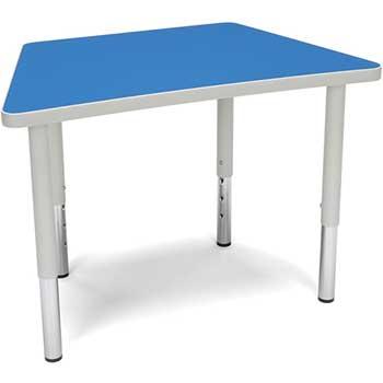 "Adapt Series Trapezoid Student Table, 18""-26"" Height Adjustable Desk, Blue"