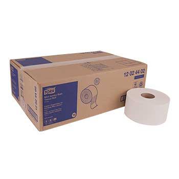 "Tork® Advanced Mini Jumbo Bath Tissue Roll, 2-Ply, 7.36"" Diameter, 3.55"" W x 751' L, White, 12 RL/CT"