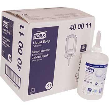 Tork® Premium Extra Mild Non-Perfumed Liquid Soap, 33.8 oz., 6/CT