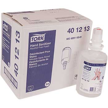 Tork® Premium Foam Alcohol-Free Hand Sanitizer, 33.8 oz., 6/CS