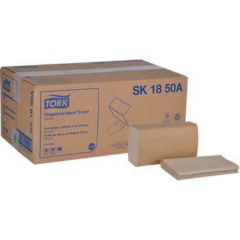 "Tork® Universal Singlefold Paper Hand Towel, 1-Ply, 10.25"" x 9.13"", Natural, 4000/CT"