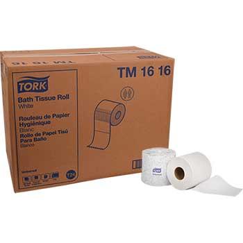 "Tork® Universal Bathroom Tissue, 4 1/2"" x 3 3/4"", 2-Ply, White, 500 Sheets/Roll, 96/CT"