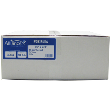 """Alliance Imaging Products™ Thermal Rolls, 3 1/8""""x273', 50 RL/CT"""