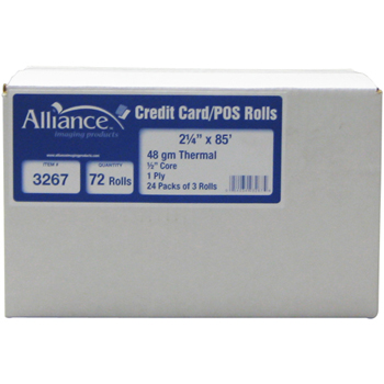 "Alliance Imaging Products™ Thermal Rolls, 2 1/4""x85', 3 RL/PK"