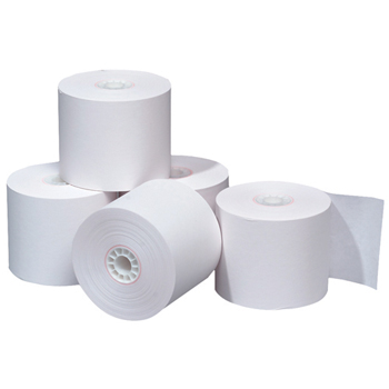 "Bond Rolls for Cash Registers, Adding Machines and Calculators, 92 Bright, 2 1/4"" x 150', 3 RL/PK"