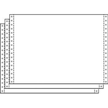 """3-Part Carbonless Computer Paper, White, 15 lb., 9 1/2"""" x 11"""", 1100/CT"""