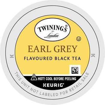 TWININGS® K-Cup® Pods, Tea, Earl Grey, 24/BX