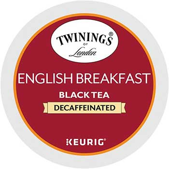 K-Cup® Pods, Tea, English Breakfast Decaf, 24/BX