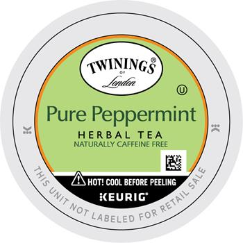 TWININGS® K-Cup® Pods, Tea, Peppermint, 24/BX