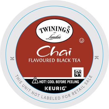 TWININGS® K-Cup® Pods, Tea, Chai, 24/BX