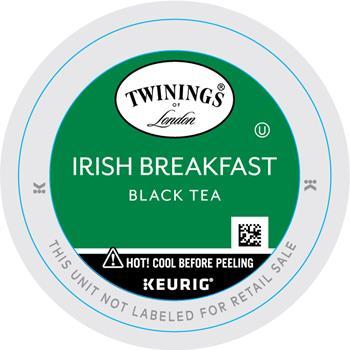TWININGS® K-Cup® Pods, Tea, Irish Breakfast, 24/BX