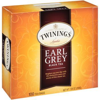 TWININGS® Tea Bags, Earl Grey, 100/BX