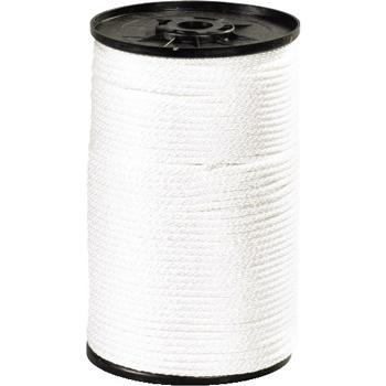 """W.B. Mason Co. Solid Braided Nylon Rope, 1/8"""", 320 lb, White, 500'"""