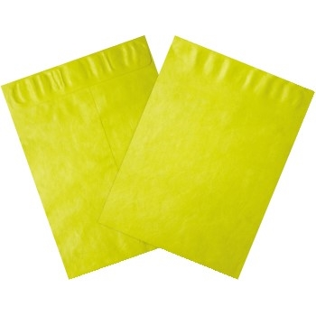 "W.B. Mason Co. Tyvek Envelopes, 10"" x 13"", Yellow, 100/CS"