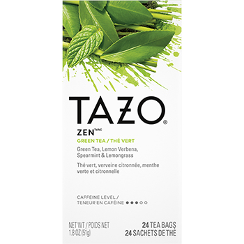 Tea Bags, Zen, 1.82 oz, 24/Box