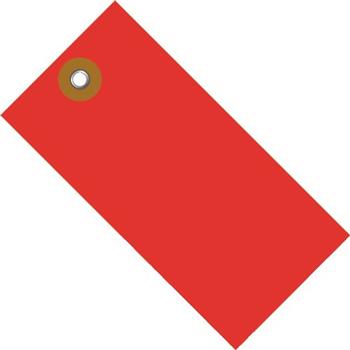 "W.B. Mason Co. Tyvek Shipping Tags, 5 1/4"" x 2 5/8"", Red, 100/CS"