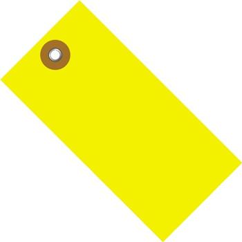 "W.B. Mason Co. Tyvek Shipping Tags, 4 3/4"" x 2 3/8"", Yellow, 100/CS"