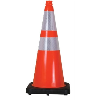"UAT Traffic Cone with 3M Reflective Collars, 18"", 3 lb., Orange"